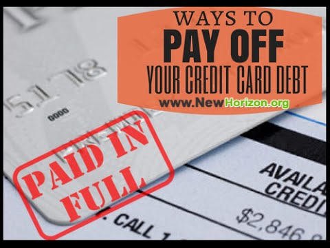 Ways To Pay Off Your Credit Card Debt - YouTube