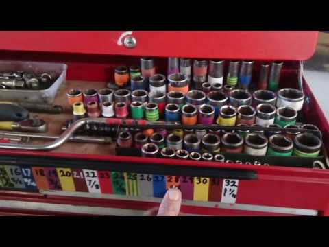 Colour code spanners and sockets to help identify size   workshop hack   YouTube