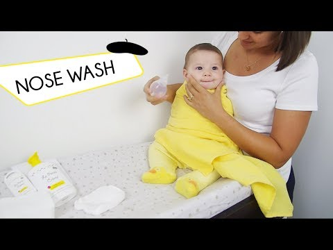 Gently wash baby's nose - WITH NO CRY