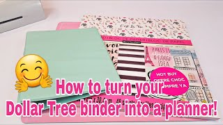 How to turn your Dollar Tree binder into a planner | Planning With Eli