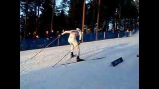 Marcus Hellner i Mördarbacken! Världscupen Falun 2012-03-15