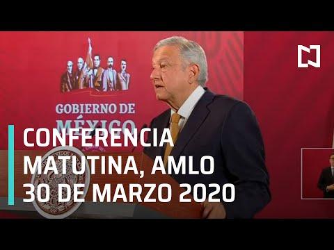 Conferencia matutina AMLO -lunes 30 de marzo 2020