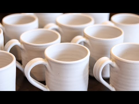 See the results!  Mugs, Bowls, Ornaments! - Unloading Kiln #32