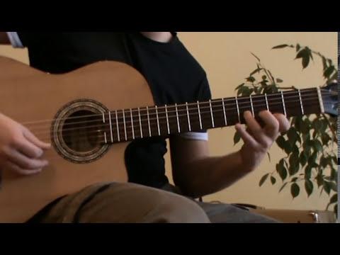 Cancion del Mariachi solo cover with TAB - acoustic guitar lesson
