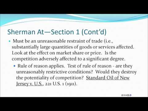 ANTITRUST--SHERMAN ACT PRESENTATION