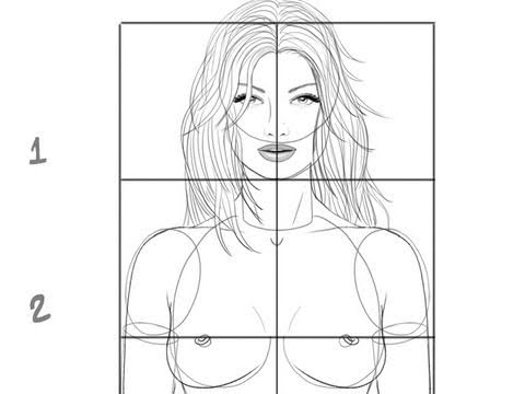 tutorial how to draw a female body basic proportions youtube