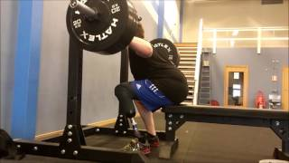 Repeat youtube video Amputee squat with bench,
