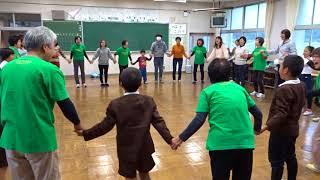 ラフターヨガ・アハハの会「岩田小学校・親子活動」(体操)