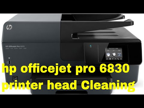 hp officejet pro 6830 printer head Cleaning
