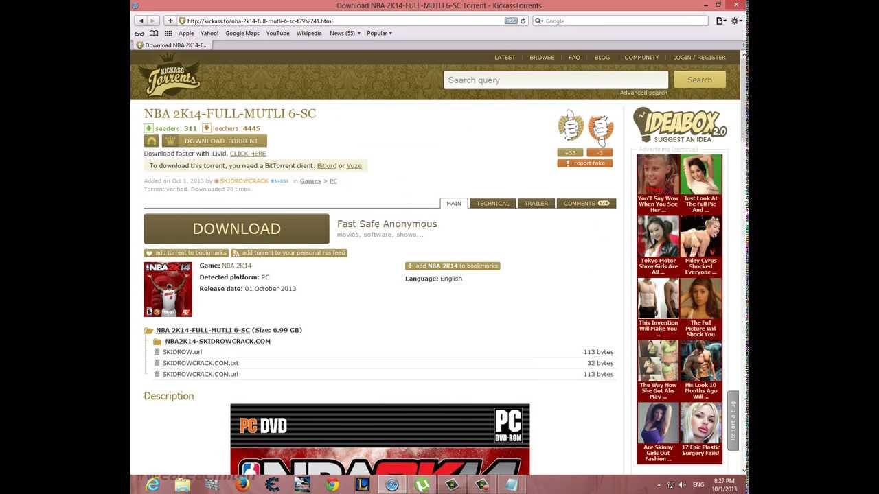 Download nba 2k14 full game (torrent) youtube.