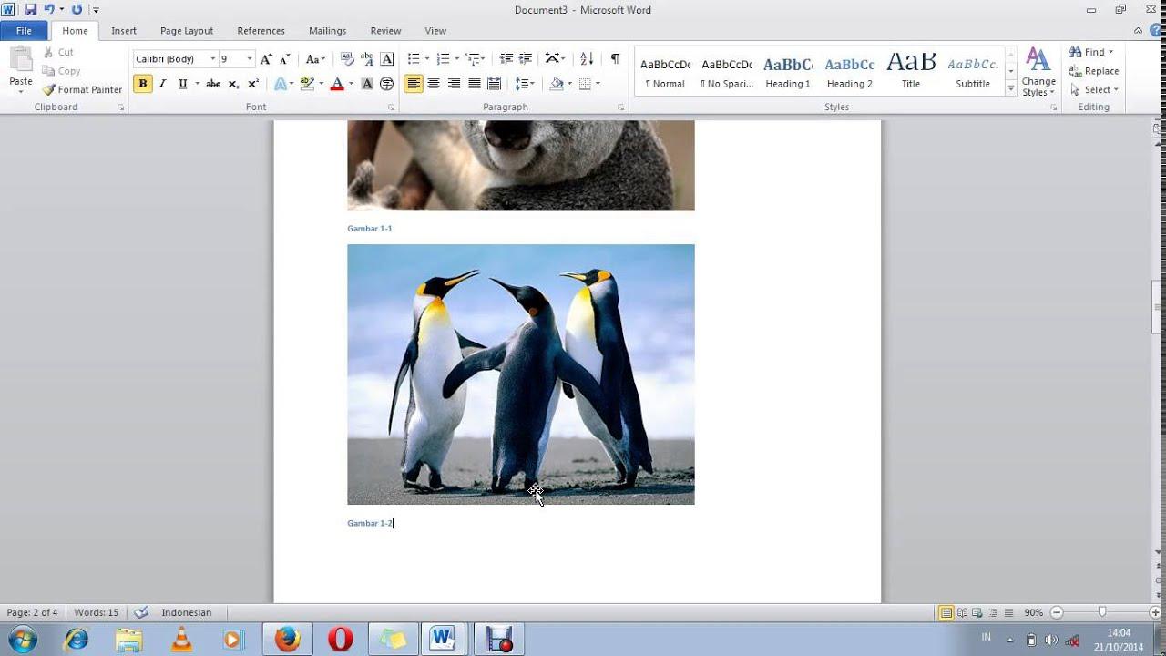 Cara Membuat Daftar Gambar Otomatis Ms.Word 2010 - YouTube