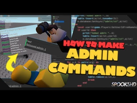 How To Make Admin Commands | Roblox Tutorial