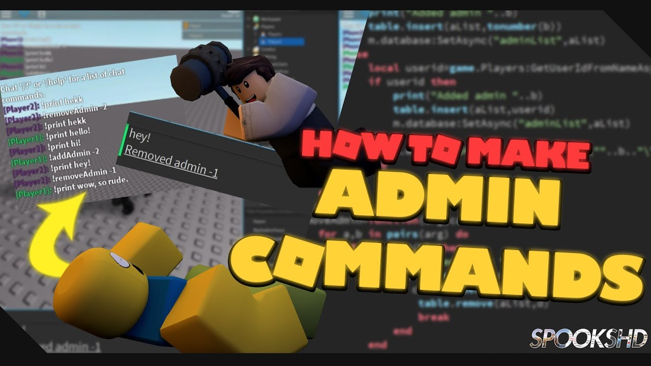 How To Use Roblox Admin Commands 2018 How To Make Admin Commands Roblox Tutorial Youtube