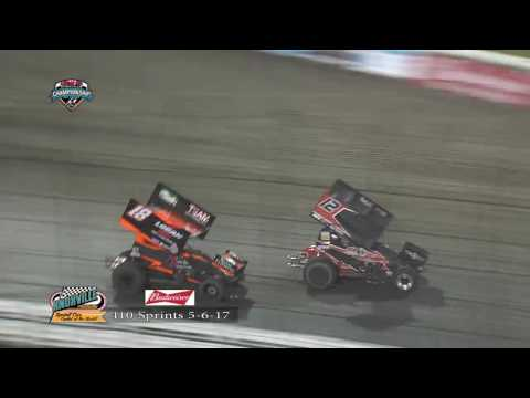 Knoxville Raceway 410 Highlights May 6, 2017