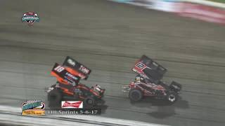 Knoxville Raceway 410 Highlights 5/6/17