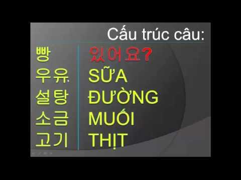 Học tiếng Hàn #5 Mua sắm