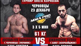 MMA PRO UKRAINE - 8 : Александр Доскальчук VS Джафарли Кенан
