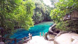 Adventurers Swim Through Enchanted River
