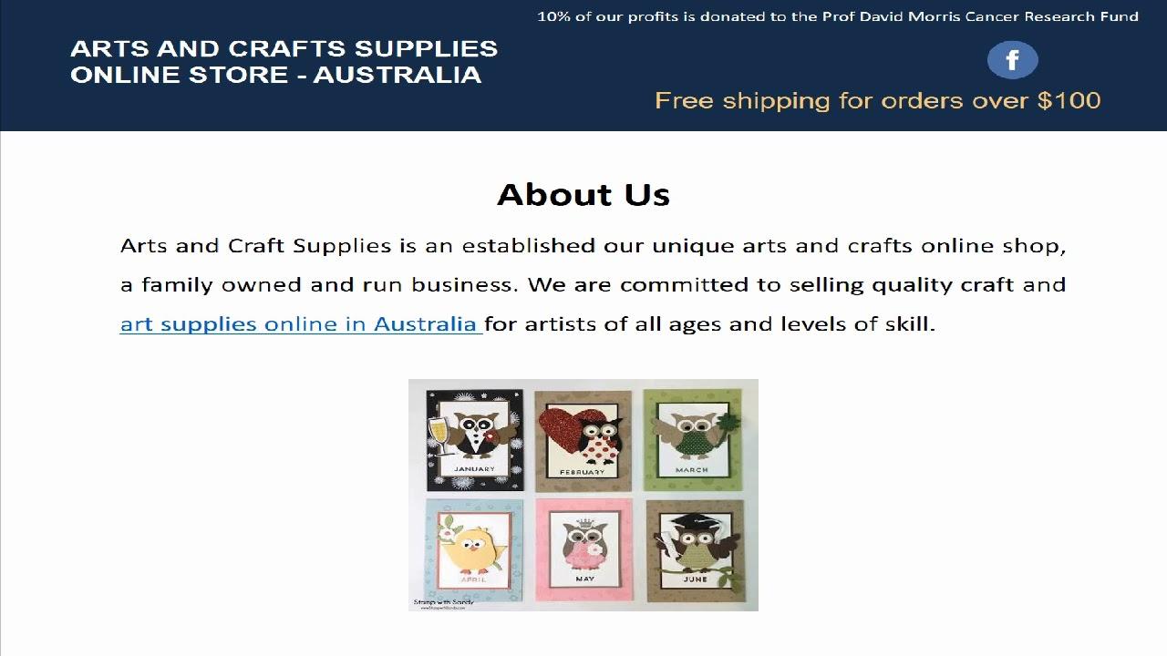 Unique Art Supplies Online In Australia Youtube