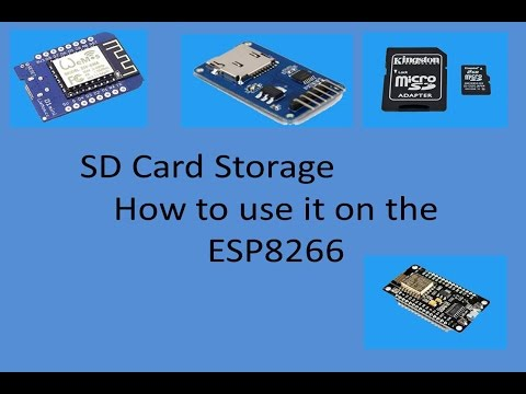 Tech Note 016 (SEE MY NOTES BELOW) How to Use SD Cards with the ESP8266