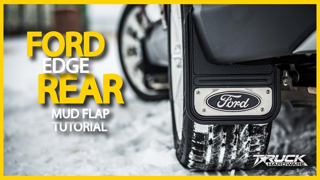 Current Ford Edge Rear Mud Flap Installation