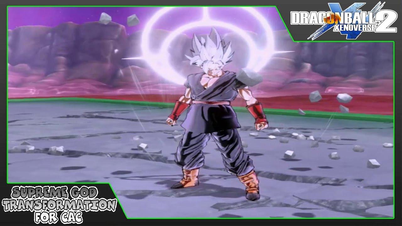 Dragon Ball Xenoverse 2 | Supreme God Transformation For CAC (MOD)