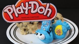 Sesame Street Ernie has Cookie Monster open up a surprise Play-Doh ...