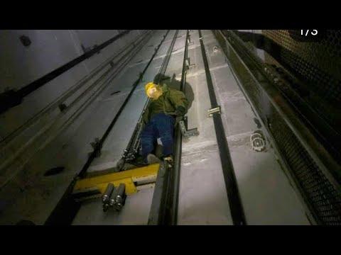 Как руферы неудачно покатались на крыше лифта