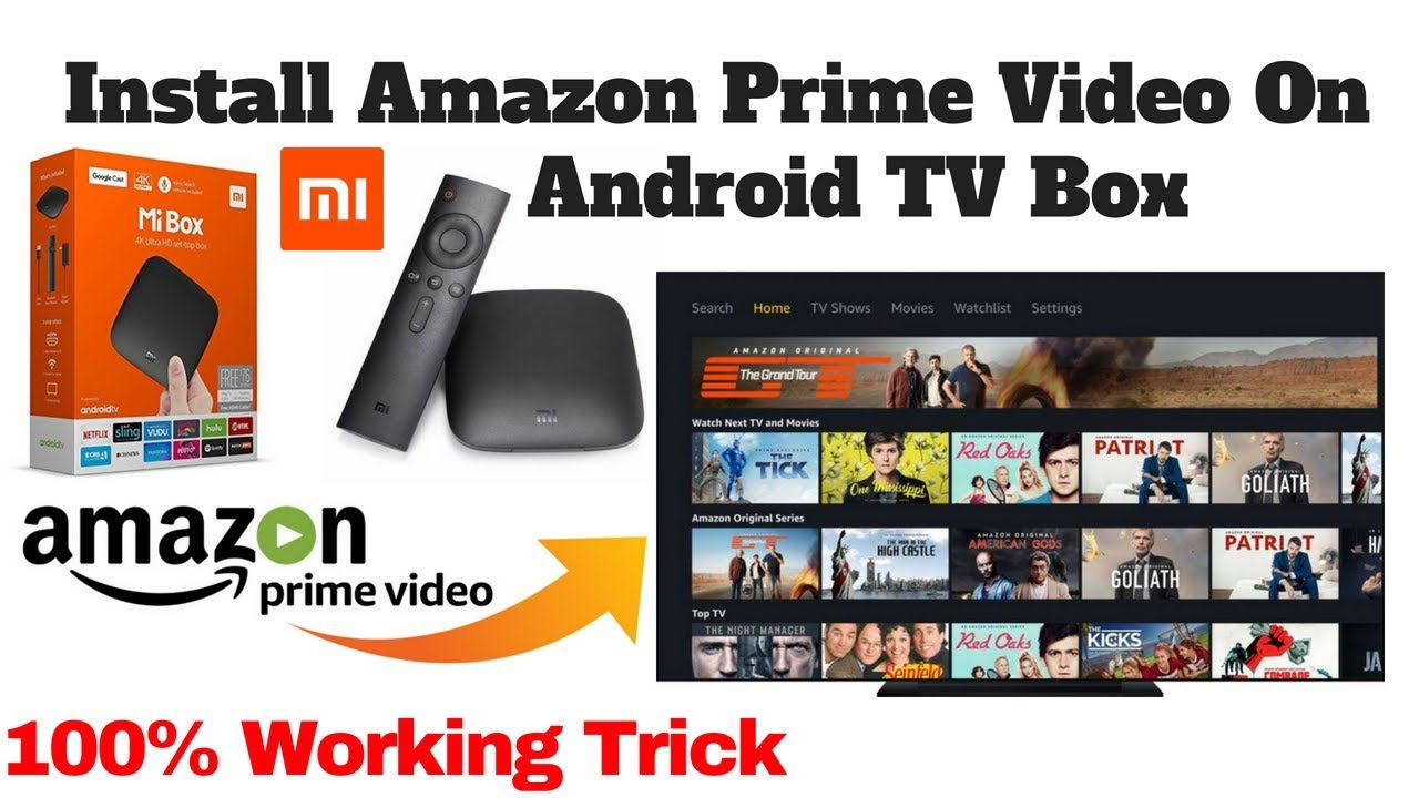 Trick to install Amazon Prime Video on Mi Android TV box | how to Sideload  apps on Mi Android TV Box
