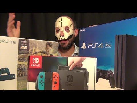 CONSOLE WAR - SONY PS4 PRO VS XBOX ONE S VS NINTENDO SWITCH