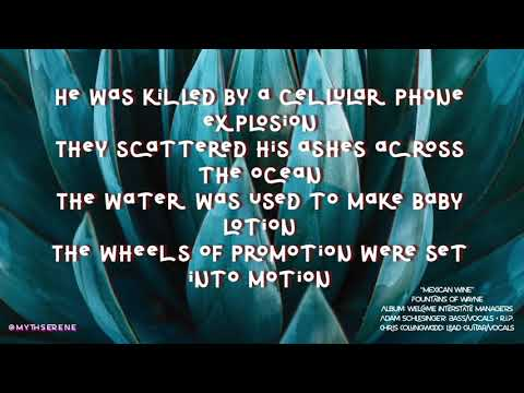 MEXICAN WINE lyrics 1080p60 • Fountains of Wayne • Adam Schlesinger R.I.P.