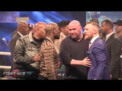 LAST STOP! FLOYD MAYWEATHER VS CONOR MCGREGOR INTENSE FACE-OFF FANS GO CRAZY!