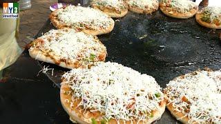 ROAD SIDE PIZZA IN MUMBAI Fashion Street  | 4K VIDEO | 4K ULTRA HD VIDEO street food