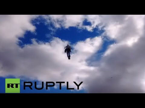 Ireland: Is it a bird? Is it a plane? No, It's Jet-Pack Man flying over Dublin