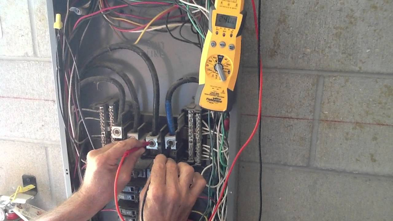 Measuring Electrical Panels : How to measure or check for phase voltage youtube