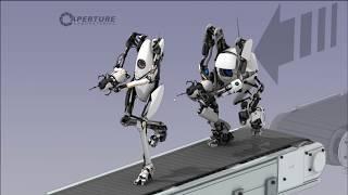 Двое  умных людей играют в Portal 2