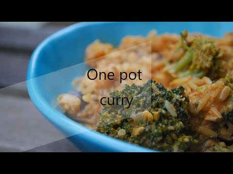 RECETTE facile & rapide / 378 Kcal - One pot curry, cabillaud & brocoli - Riche en protéines / 25g