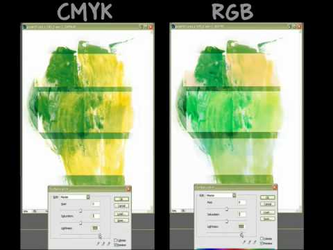 Rgb Vs Cmyk In Photoshop Side By Side Comparison Youtube