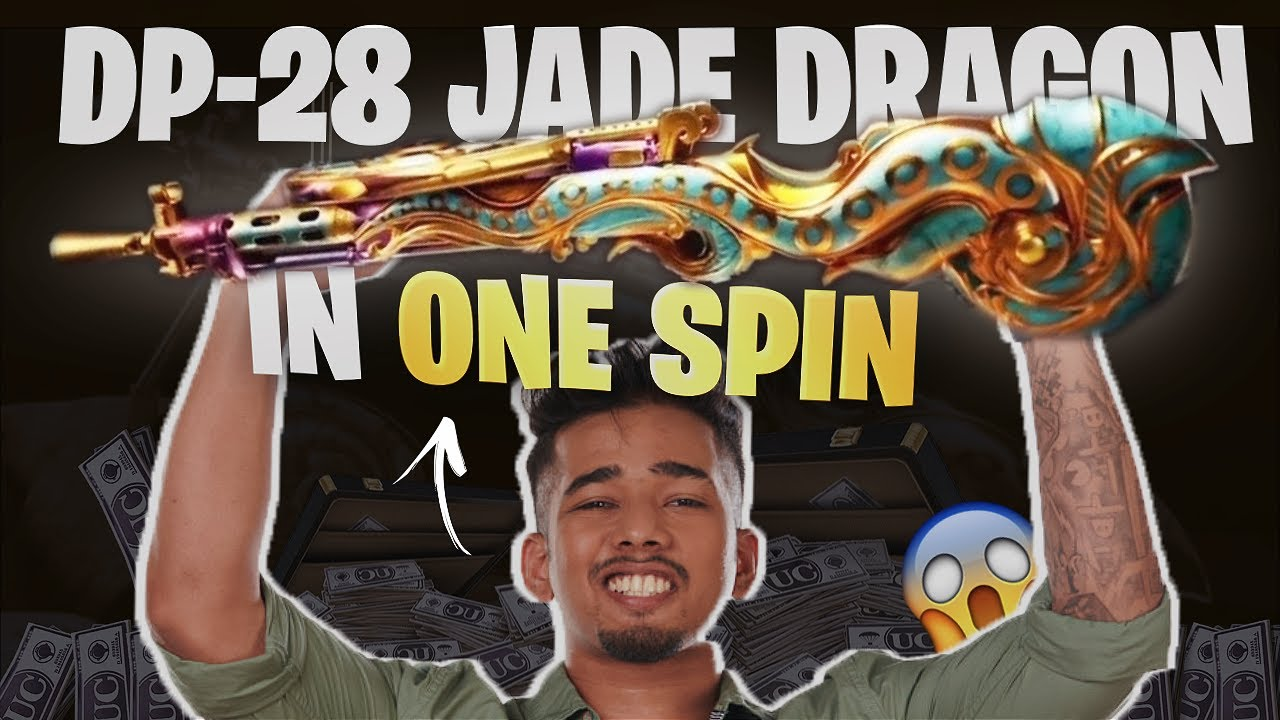 DP-28 JADE DRAGON IN ONE SPIN?! *TIPS AND TRICKS?!* | Fun BGMI Highlights | sc0ut