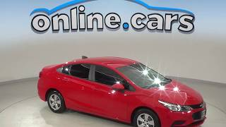 A10120LT Used 2017 Chevrolet Cruze LS FWD 4D Sedan Red Test Drive, Review, For Sale
