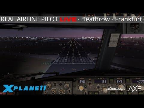 Real Airline Captain LIVE (ZIBO MOD 737) | VATSIM SHUTTLE EVENT | Heathrow - Frankfurt thumbnail