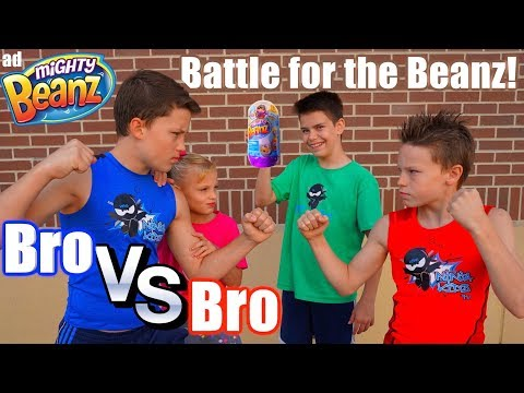 Bro Vs Bro! Impossible Battle for Mighty Beanz! Ninja Kidz TV!