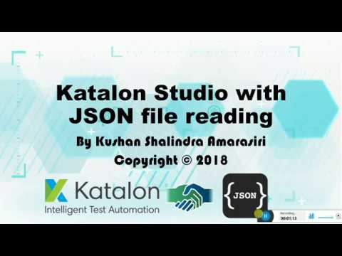 Katalon Studion Reading JSON files
