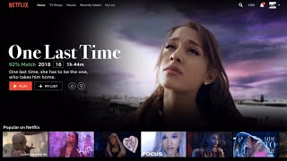 if 'one last time' by ariana grande was a movie on netflix