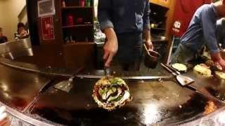 Japan 2014 - Day 8 Osaka: Mizuno Okonomiyaki at Dotonbori
