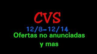 CVS 12/8-12/14 OFERTAS NO ANUNCIADAS Y MAS|Randee Saves