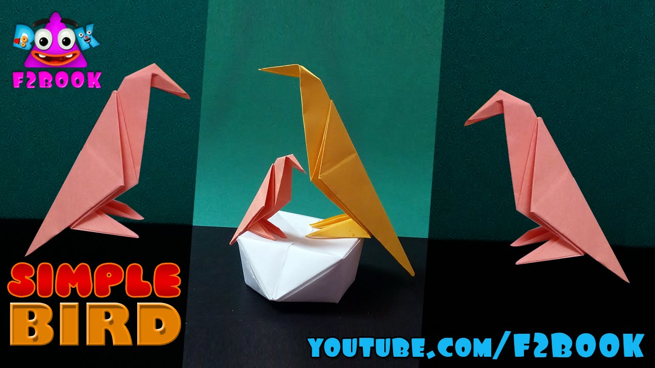 How To Make Origami Birds - Paper Folding Instructions