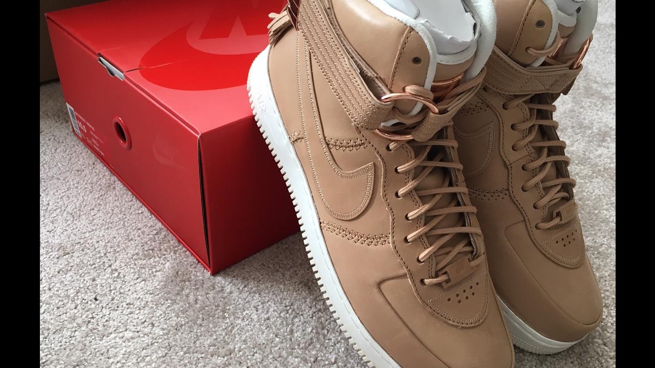 best authentic 28948 9521c Unboxing Nike Air Force 1 Premium Vachetta Tan