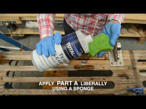 How to Use 2-Part Teak Cleaner