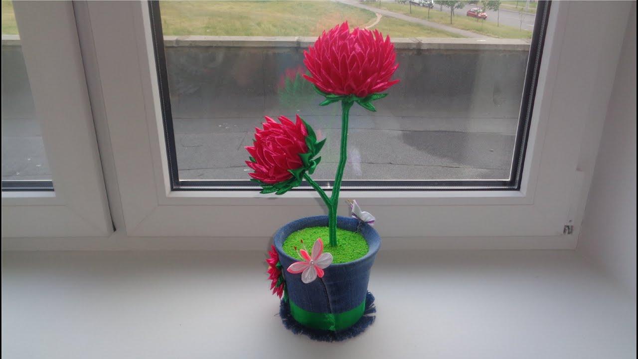 канзаши топиарий фото цветов из